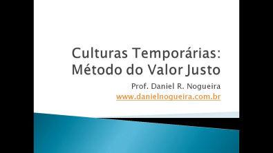 Aula 3 - Contabilidade Agronegócio - Culturas Temporárias - Valor Justo - Ativos Biológicos