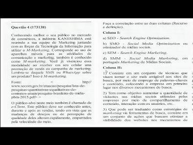 Sistemas de Informação Gerencial - prova da Universidade Unopar 2019 #prova 1 - parte1