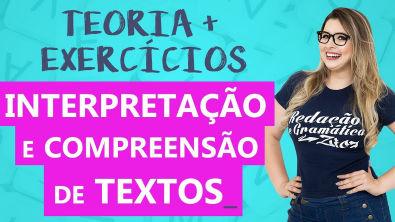 INTERPRETAÇÃO E COMPREENSÃO DE TEXTOS - com EXERCÍCIOS - Profa