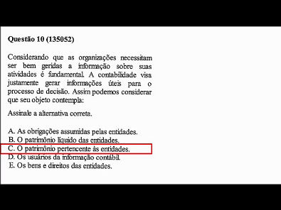 Contabilidade- Prova da Unopar - 2019 #PARTE2 #prova5