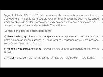 Contabilidade- Prova da Unopar - 2019 #PARTE2 #prova6