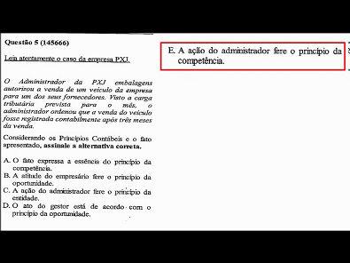 Contabilidade- Prova da Unopar - 2019 #PARTE1 #prova7