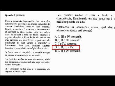 Composto Mercadológico -prova da Unopar - 2019 #prova2 #parte1
