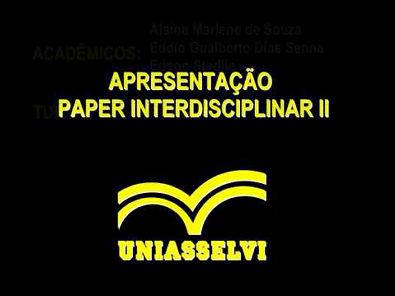 Apresentação Paper Uniasselvi