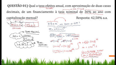 Aula 02 - Exercício comentado sobre Taxa Efetiva e Taxa Nominal