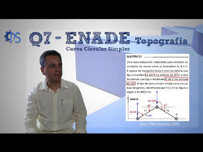 ENGENHARIA TOPOGRAFIA - Questões ENADE 07 - Estradas - Curva Circular Simples