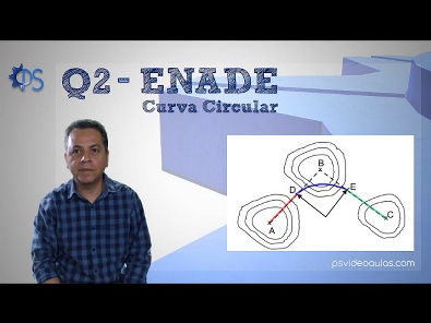 ENGENHARIA TOPOGRAFIA - Questões ENADE 02 - Estradas - Curva Circular Simples