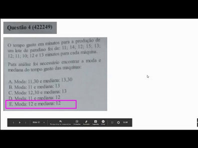 Metodos Quantitativos- prova Unopar- 2019 #prova3 #parte1