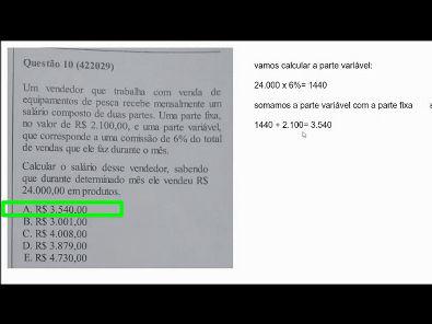 Metodos Quantitativos- prova Unopar- 2019 #prova3 #parte2