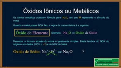 Extensivo Química - Aula 08 - Óxidos, Peróxidos e Superóxidos - (parte 1 de 1)