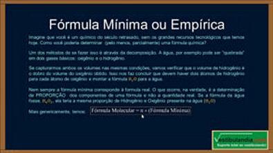 Extensivo Quimica - Aula 12 - Formula Minima, Percentual e Molecular - (parte 1 de 1)