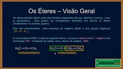 Extensivo Química - Aula 20 - Química Orgânica - Éteres - (parte 1 de 1)