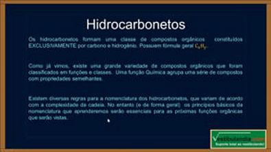 Extensivo Química- Aula 16 - Química Orgânica - Nomenclatura de Hidrocarbonetos - (parte 1 de 1)