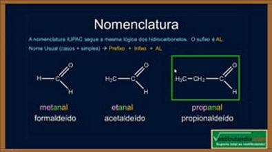 Extensivo Química - Aula 18 - Química Orgânica - Aldeídos - (parte 1 de 1)
