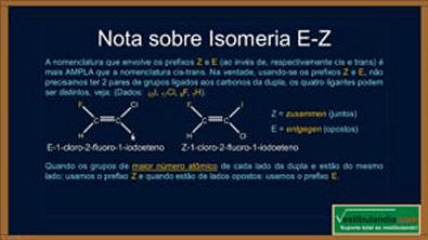Extensivo Química - Aula 29 - Quimica Organica - Isomeria Espacial - (parte 1 de 1)
