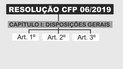 RESOLUÇÃO CFP: 06/2019 (Nova Resolução: Documentos Psicológicos)   Aula 02: CAPÍTULO I, Disposições Gerais (art
