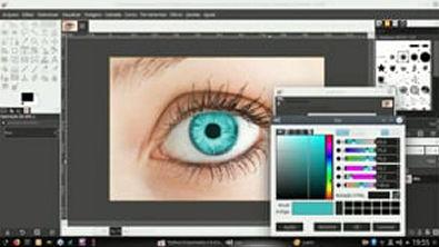 Como mudar a cor do olho no Gimp (Photoshop do Linux)
