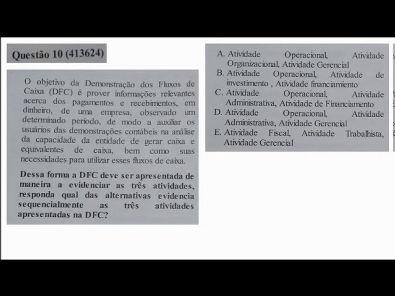 Estrutura das Demonstrações - prova Unopar- 2019 #prova3 #parte2