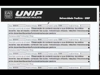 Documentos Estágio UNIP - EaD