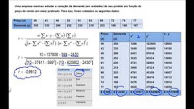 Correlação e Regressão Linear Simples