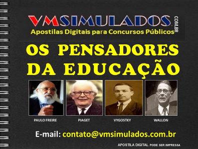 OS PENSADORES DA EDUCAÇÃO: PAULO FREIRE, PIAGET, VYGOSTKY e WALLON - APOSTILA DIGITAL