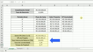 Cálculo do VPL, TIR, Lucratividade e Payback no Excel - Planilha Automatizada