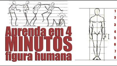 Como desenhar FIGURA HUMANA em 4 MINUTOS