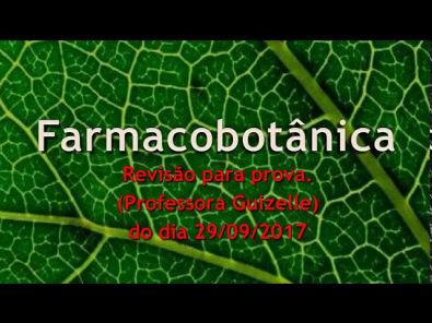 REVISÃO PARA PROVA DE FARMACOBOTÂNICA