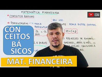 Conceitos Básicos - Matemática Financeira #1