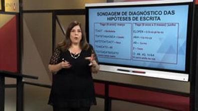 Alfabetização e Letramento II - Sondagem diagnóstica e frentes cognitivas na construção da escrita