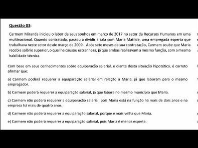 Legislação Social e Trabalhista - AULA ATIVIDADE 3 DA UNOPAR 2019 02