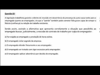 Legislação Social e Trabalhista - AULA ATIVIDADE 4 DA UNOPAR 2019 02