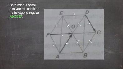 Geometria Analítica   Determine a soma de três vetores num hexágono regular