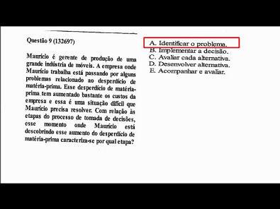 Modelos de Gestão - prova Unopar- 2019 #prova1 #parte2