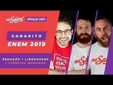 GABARITO ENEM 2019 1º DIA - AO VIVO