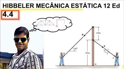 Hibbeler exercícios resolvidos 4 4 capitulo 4 momento mecanica estático