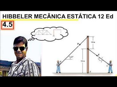 Engenharia Mecânica Hibbler Momento exercício 4 5 estática 12 ed