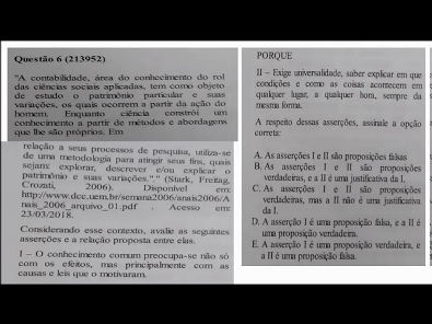 Teoria da Contabilidade - prova Unopar- 2019 #prova2 #parte1