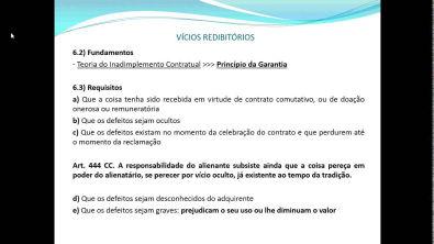 VÍCIOS REDIBITÓRIOS