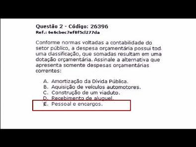 CONTABILIDADE DO SETOR PÚBLICO - prova Unopar- 2018 #prova1 #parte1