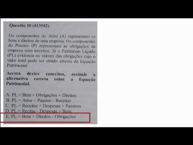 Estrutura das Demonstrações - prova Unopar- 2019 #prova4 #parte2