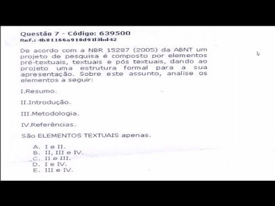 METODOLOGIA CIENTÍFICA - prova Unopar- 2018 #prova1 #parte2