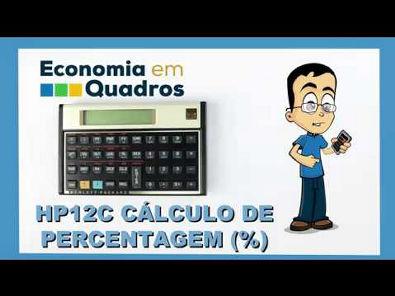 HP12C Cálculo de percentagem (%) parte 4 de 6