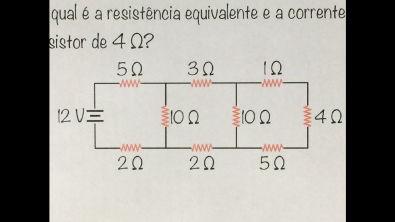 FBNET | Ed EXTRA - A resistência EQUIVALENTE e a corrente que passa no último resistor