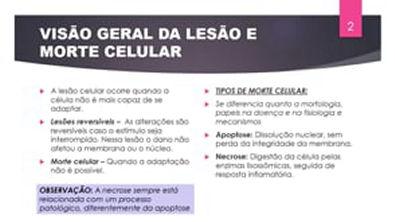 Lesão celular reversível (PARTE I)