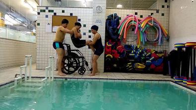Hidroterapia Bad Ragaz, Watsu, FNP , Halliwick, Transferência da Cadeira para Piscina