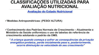 aula de nutrição - clico de vida 2: Desnutrição energético proteica - características e tratamento