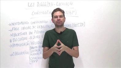 Lei 8 666/93 - Aula 8 - Concorrência (Art 22 §1º) - Curso de Direito Administrativo