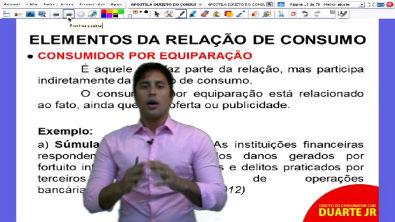 Direito do Consumidor Definição de Consumidor e Fornecedor - Prof Duarte Jr - Aula 02/14