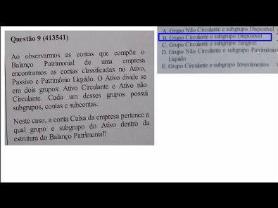 Estrutura das Demonstrações - prova Unopar- 2019 #prova5 #parte3